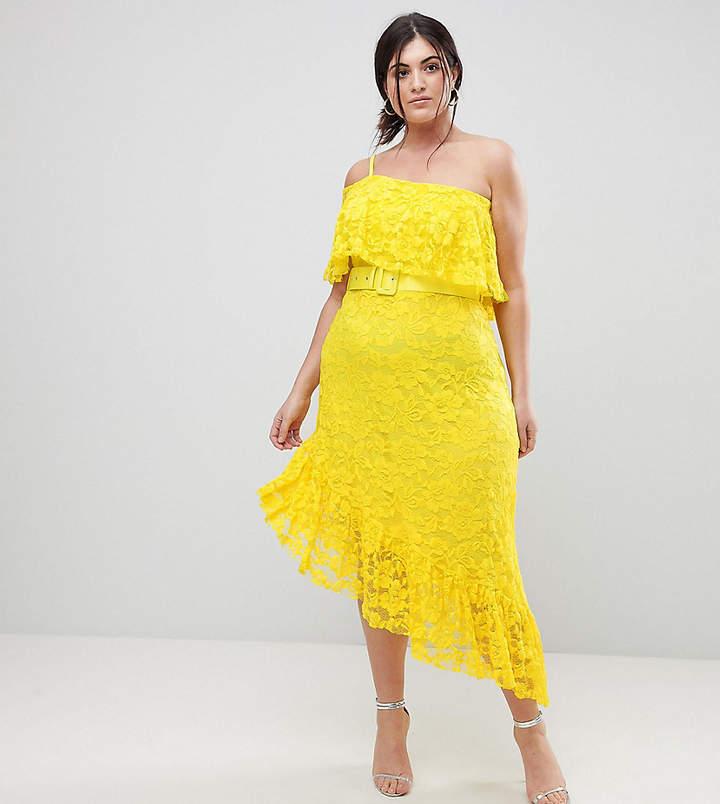 one strap yellow dress